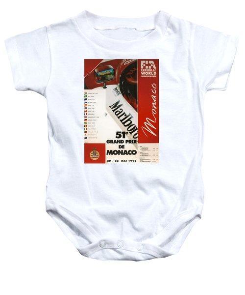 Monaco F1 1993 Baby Onesie