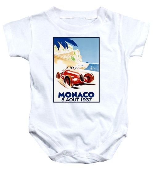 Monaco Grand Prix 1937 Baby Onesie