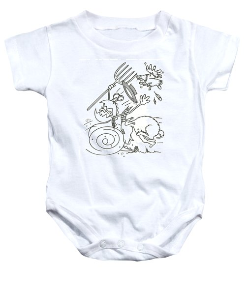 Monster Getting Chased Baby Onesie