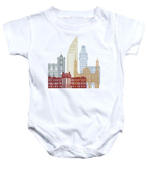 Montevideo Skyline Poster Baby Onesie