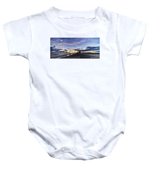 Moonlit Beach Sunset Seascape 0272b1 Baby Onesie