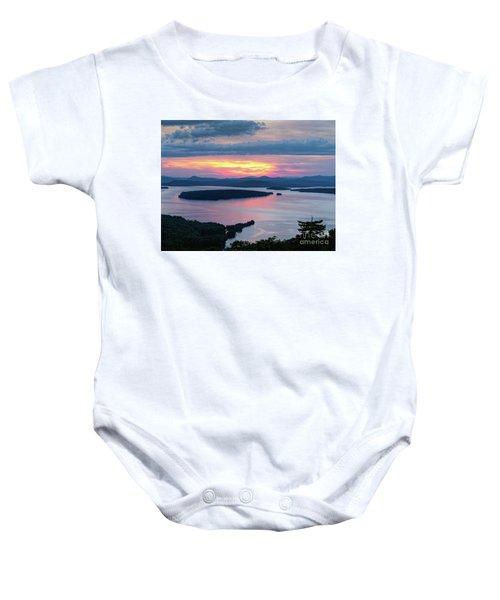 Mooselookmeguntic Lake In The Last Light Of Day - Rangeley Me  -63430 Baby Onesie