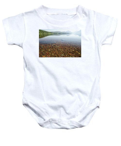 Morning At Lake Mcdonald Baby Onesie