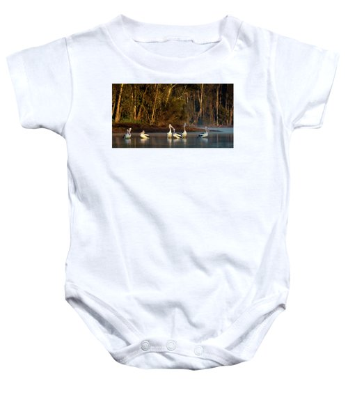 Morning On The River Baby Onesie
