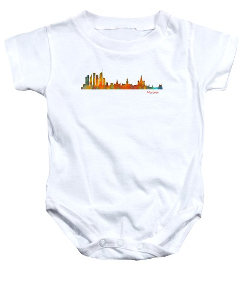 Moscow City Skyline Hq V1 Baby Onesie