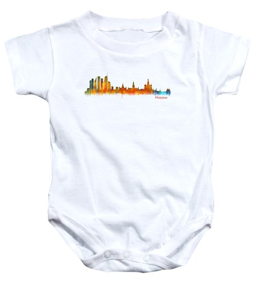 Moscow City Skyline Hq V2 Baby Onesie