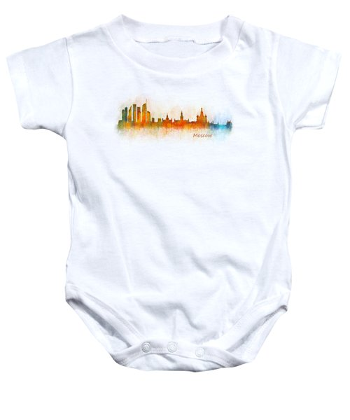 Moscow City Skyline Hq V3 Baby Onesie