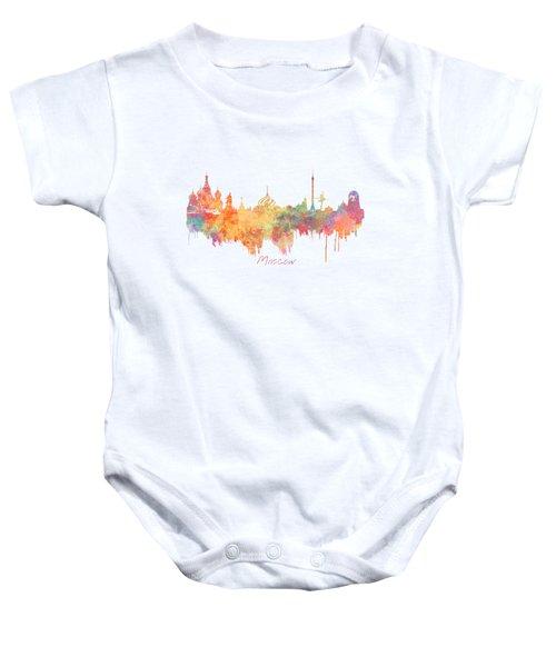 Moscow Russia Skyline City Baby Onesie by Justyna JBJart