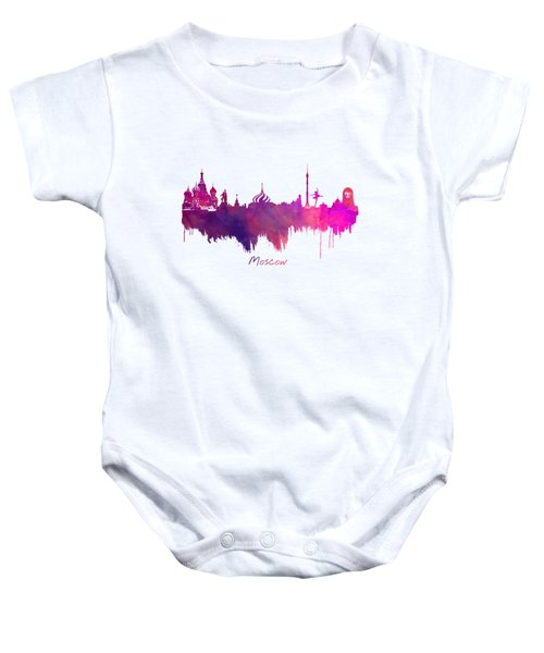 Moscow Skyline Purple Baby Onesie