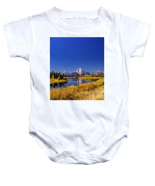 Mount Moran Baby Onesie