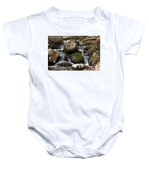 Mountain Stream Through Rocks Baby Onesie