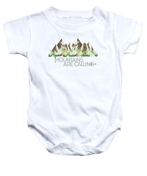 Mountains Are Calling Baby Onesie