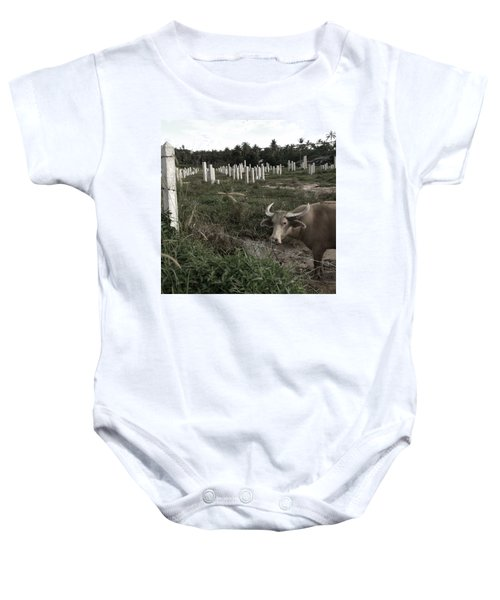 Mourning In The Palm-tree Graveyard Baby Onesie
