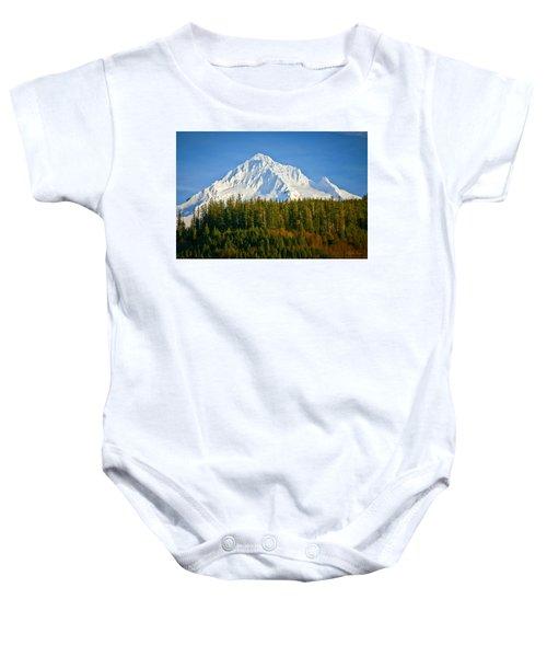Mt Hood In Winter Baby Onesie