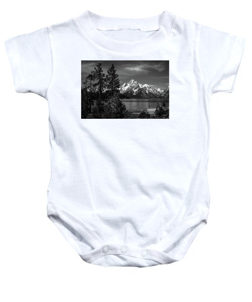 Mt. Moran And Trees Baby Onesie