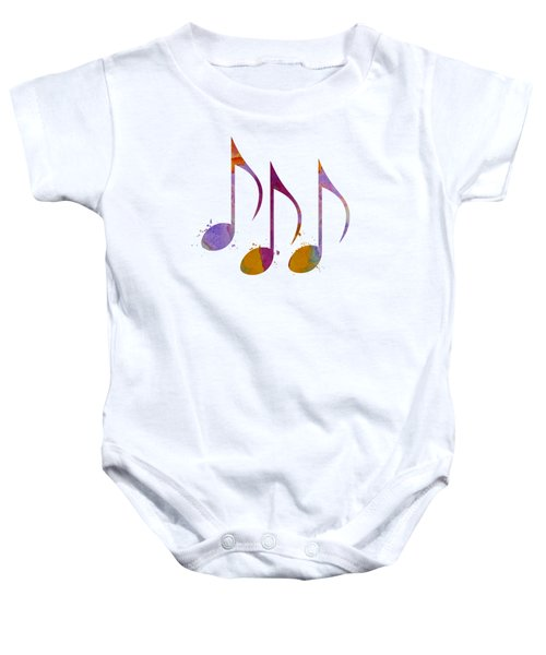 Musical Notes Baby Onesie