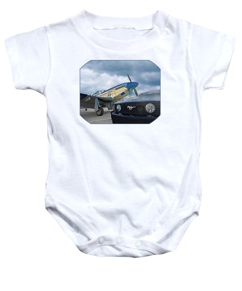 Mustang Gt With P51 Baby Onesie