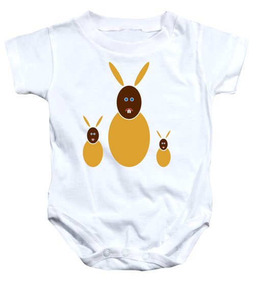 Mustard Bunnies Baby Onesie