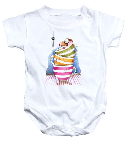 My Cup Of Tea Baby Onesie by Lucia Stewart