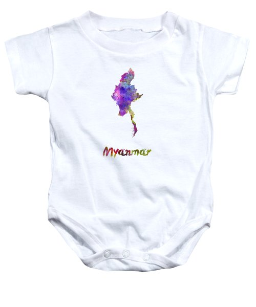 Myanmar In Watercolor Baby Onesie