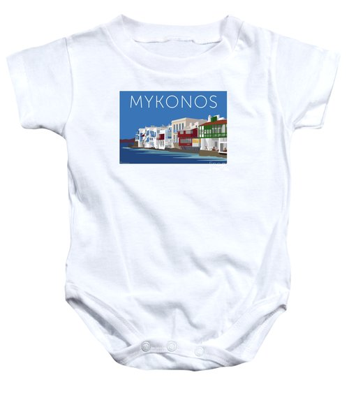 Mykonos Little Venice - Blue Baby Onesie