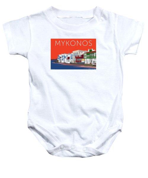 Mykonos Little Venice - Orange Baby Onesie