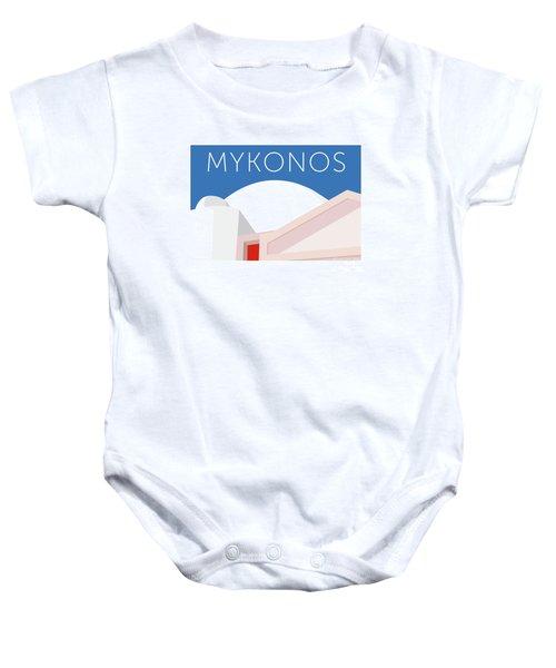 Mykonos Walls - Blue Baby Onesie