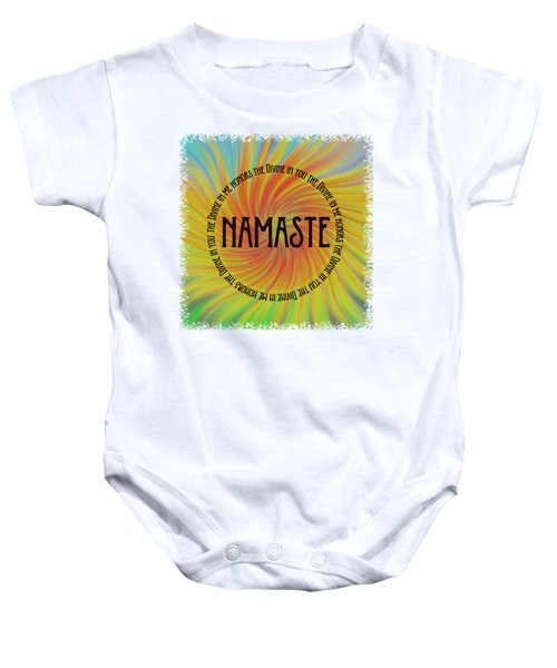 Namaste Divine And Honor Swirl Baby Onesie
