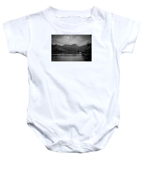 Nantahala River Great Smoky Mountains In Black And White Baby Onesie
