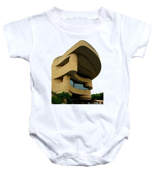 National Museum Of The American Indian 1 Baby Onesie by Randall Weidner