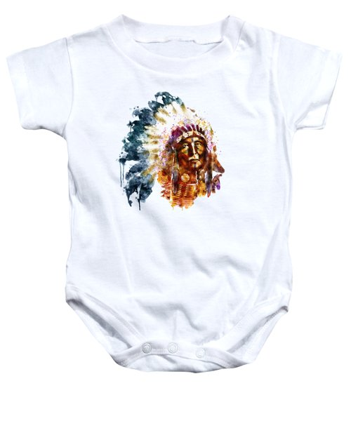 Native American Chief Baby Onesie