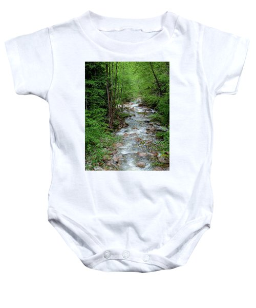 Naturally Pure Stream Backroad Discovery Baby Onesie