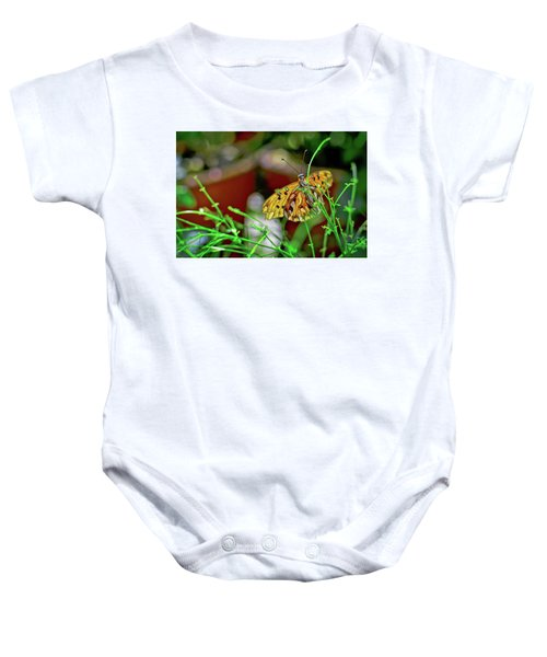Nature - Butterfly And Plants Baby Onesie