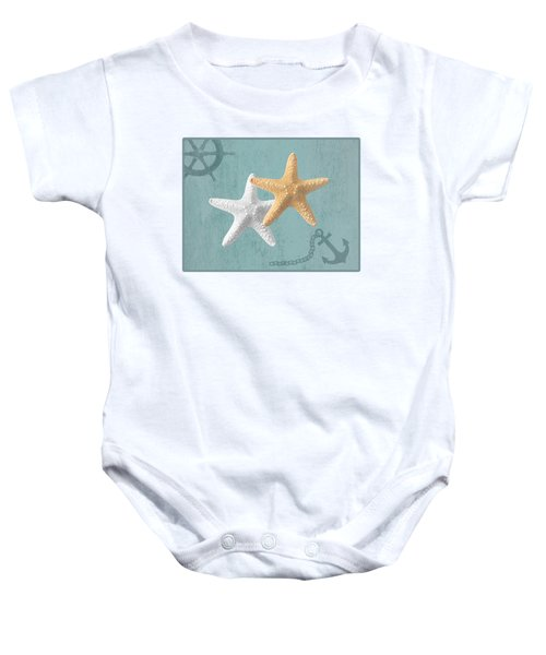 Nautical Stars Baby Onesie