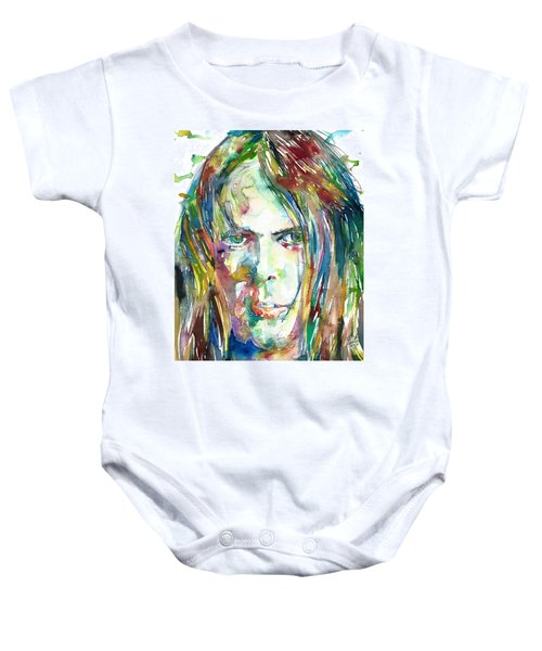 Neil Young Portrait Baby Onesie
