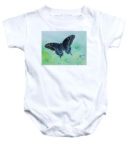 Neon Swallowtail Baby Onesie