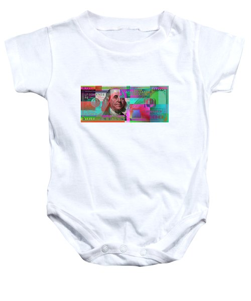 New 2009 Series Pop Art Colorized Us One Hundred Dollar Bill  No. 3 Baby Onesie