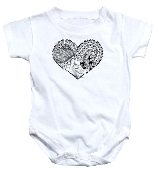Baby Onesie featuring the drawing New Beginning by Ana V Ramirez