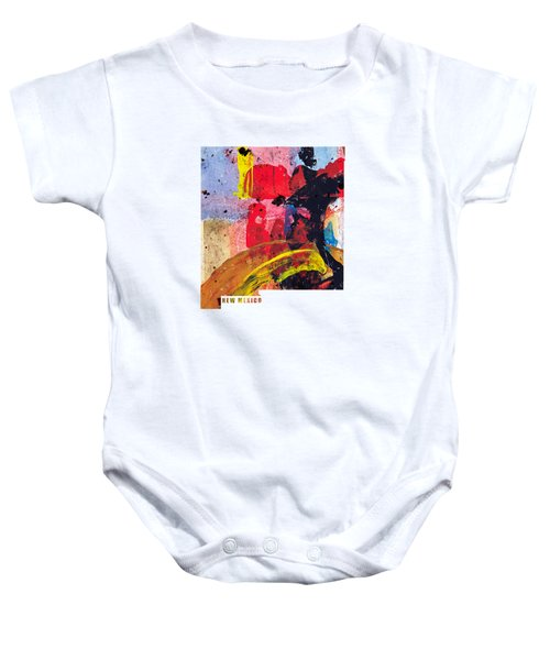 New Mexico Map Art - Painted Map Of New Mexico Baby Onesie