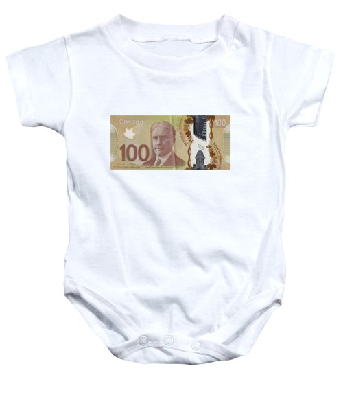 New One Hundred Canadian Dollar Bill Baby Onesie
