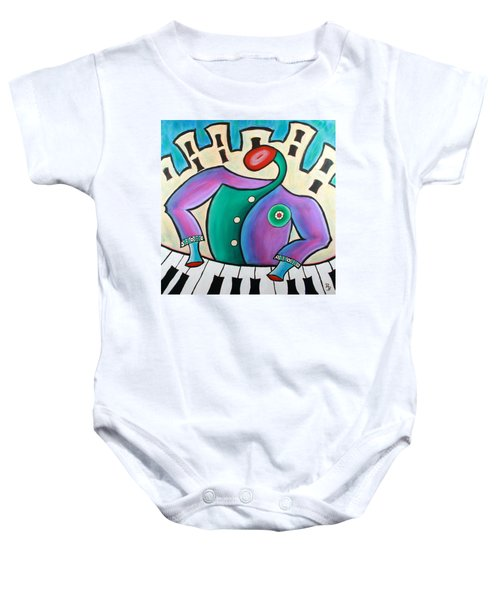 New Orleans Cool Jazz Piano Baby Onesie