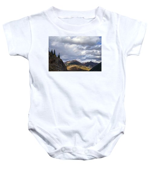 Peeking At The Peaks Baby Onesie