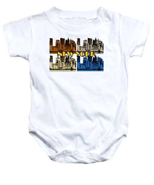 New York 4 Color Baby Onesie
