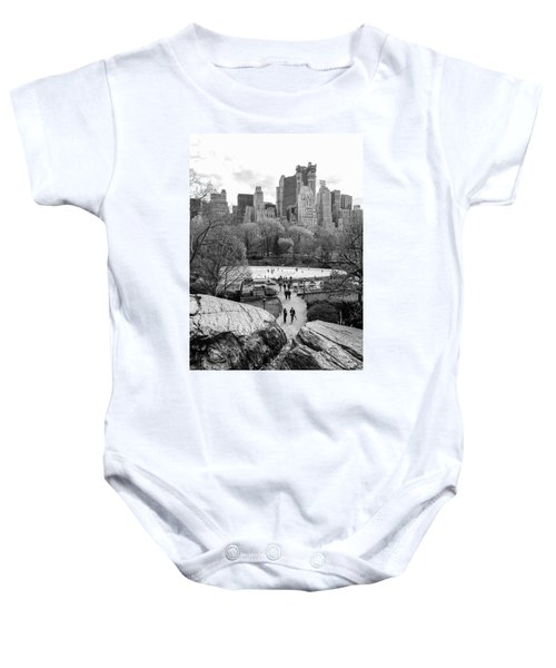 New York City Central Park Ice Skating Baby Onesie