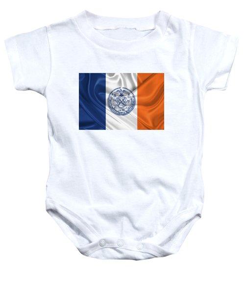 New York City - Nyc Flag Baby Onesie by Serge Averbukh