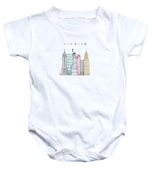 New York  Minimal  Baby Onesie by Mark Ashkenazi