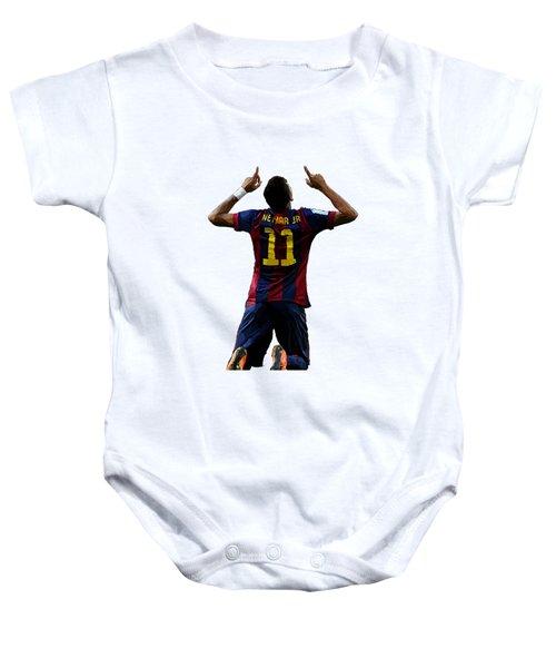 Neymar Baby Onesie by Armaan Sandhu