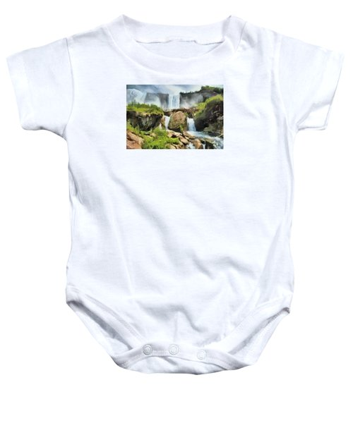 Niagara Falls Cave Of The Winds Baby Onesie