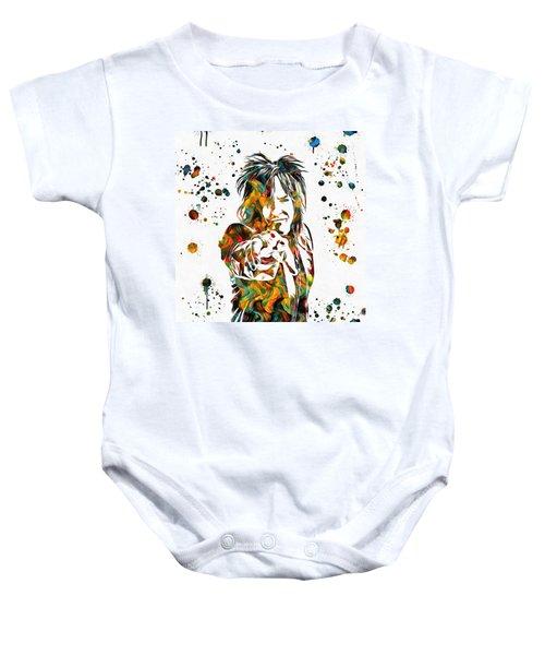 Nikki Sixx Paint Splatter Baby Onesie
