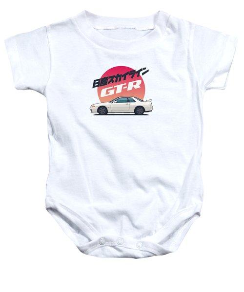 Nissan Skyline R32 Gt-r - Vert White Baby Onesie